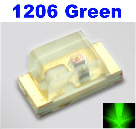 Green 1206 SMD LED